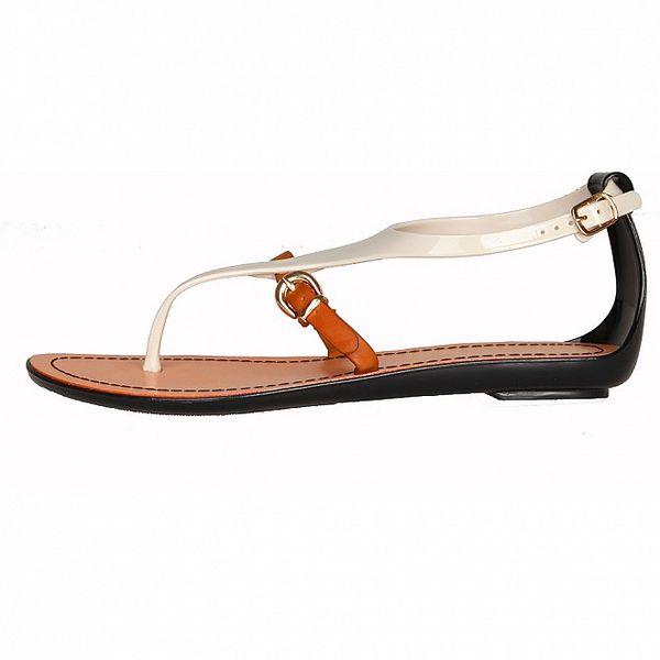 Dámske biele pásikové sandálky Ana Lublin