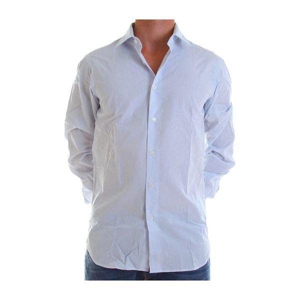 Pánská košile Calvin Klein bílá s proužkem