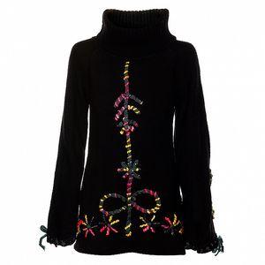 Dámský dlouhý černý svetr s rolákem Savage Culture