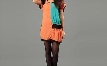 Dámske oranžové minišaty Anabelle