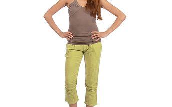 Dámské zelené capri kalhoty Anabelle
