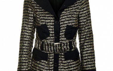 Jarná čiernozlatá bunda od značky Savage Culture