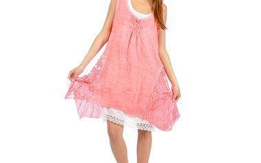 Dámské růžové romantické šaty Anabelle