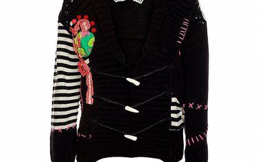 Dámsky krátky čierny sveter Savage Culture