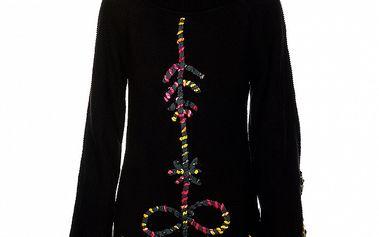 Dámsky dlhý čierny sveter s rolákom Savage Culture