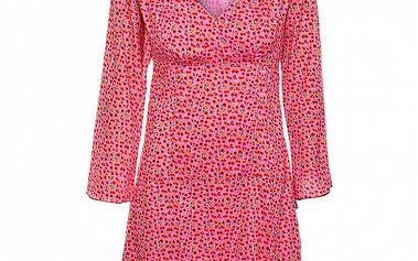 Dámské růžové šaty s potiskem květin Savage Culture