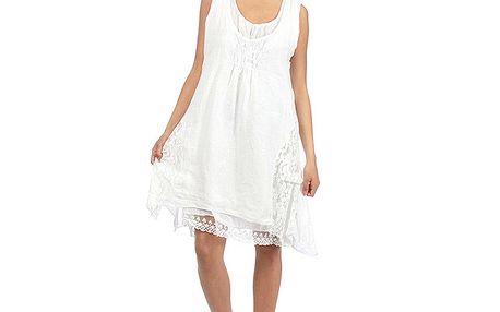 Dámske biele romantické šaty Anabelle