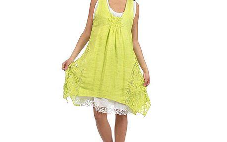 Dámské světle zelené romantické šaty Anabelle