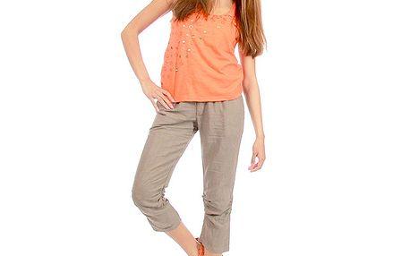 Dámské hnědé capri kalhoty Anabelle