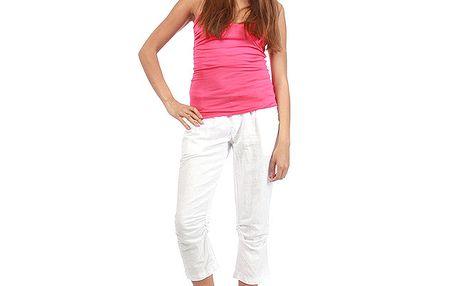 Dámské bílé capri kalhoty Anabelle