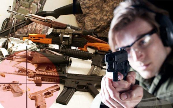 Elitní voják na zkoušku!!! Za suúper cenu 1.190,-Kč zkuste něco nového střelba z 8-mi zbraní a výběrem ze 50 nadupaných modelů dle vašeho výběru. K dispozici budete mít 88 ostrých nábojů i zkušeného instruktora.