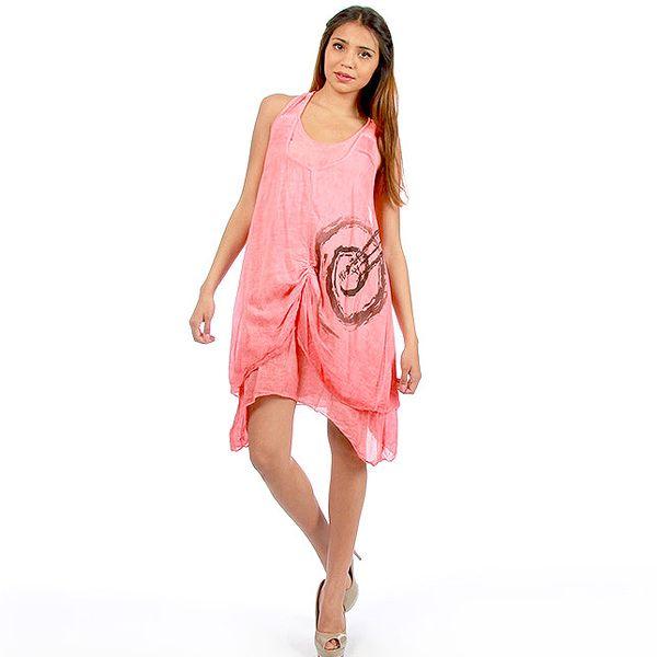 Dámske ružové dvojvrstvové šaty Anabelle