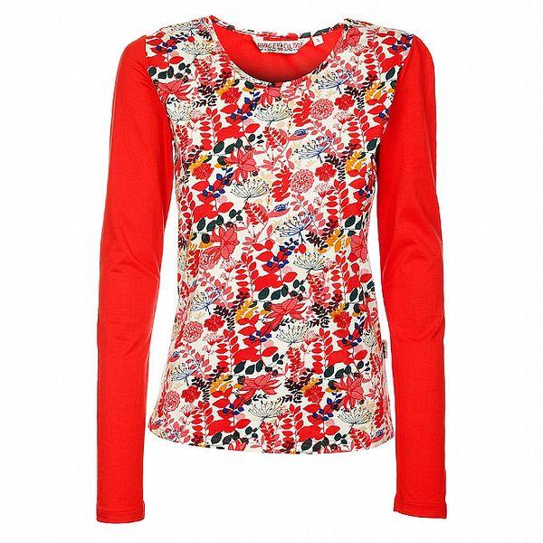 Dámské zářivě červené triko s dlouhým rukávem Savage Culture