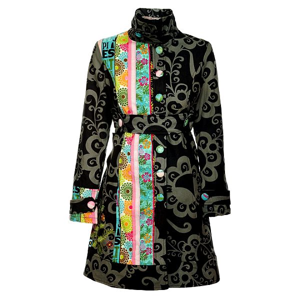 Dámský šedočerný kabát Savage Culture