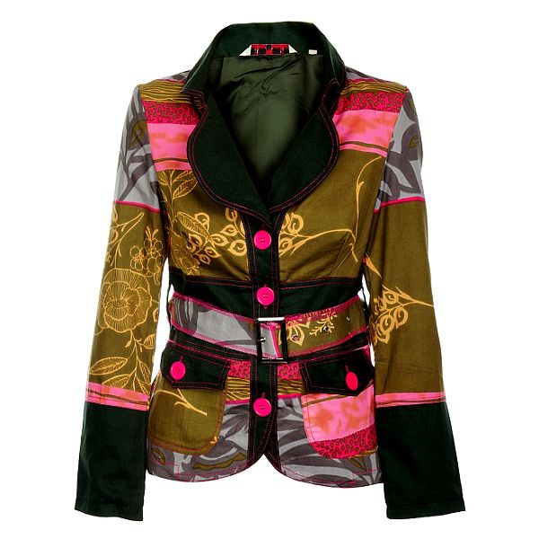 Dámsky krátky kabátik s čiernym limcom Savage Culture