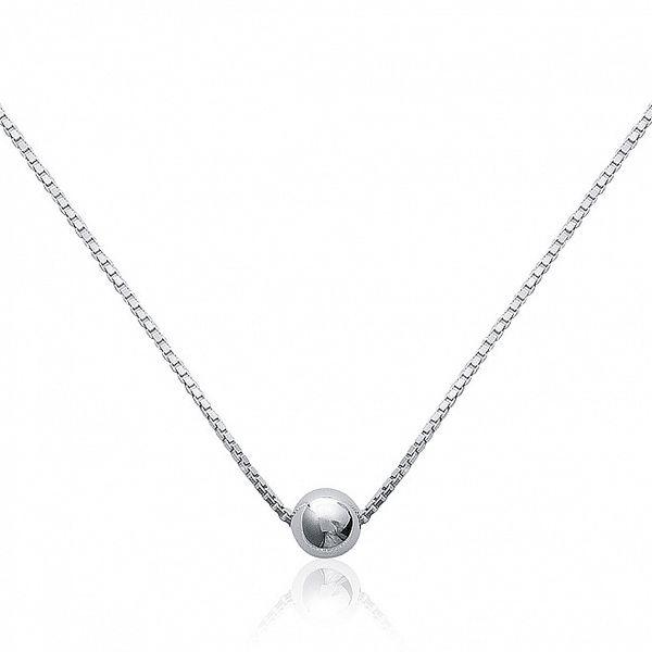 Dámský stříbrný náhrdelník La Mimossa s korálkem