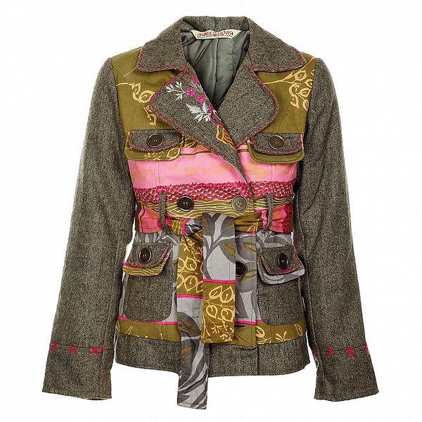 Dámský krátký šedivý kabátek Savage Culture