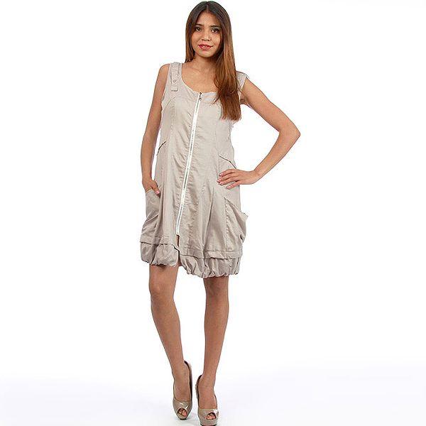 Dámske šedé šaty na zips Anabelle