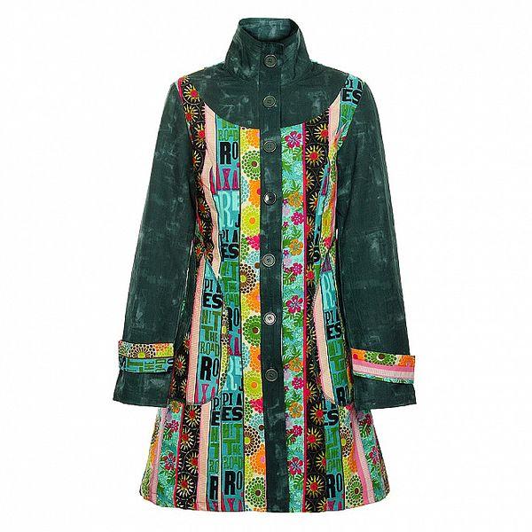 Dámský dlouhý tmavě zelený kabát Savage Culture