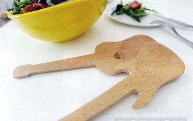 Dřevěné salátové lžíce Kytary