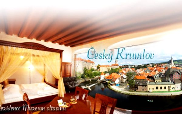 TŘI DNY LUXUSU v nádherném Českém Krumlově jen za 2599 Kč pro dva! Luxusní historické APARTMÁNY s Wi-Fi, SNÍDANÍ, kávou a čajem, pozdním odjezdem a slevovou kartou do WELLNESS! Varianta i pro 4 osoby, ušetříte až 52%!