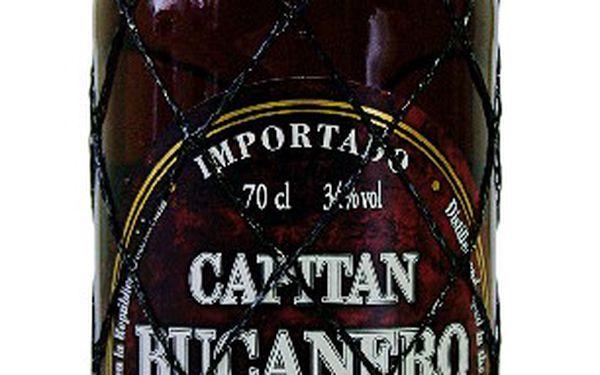 Rum bucanero elixir 7 aňos 0.7l - elegantní rum z dominikánské republiky