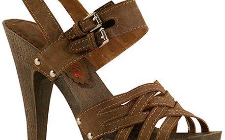 Spletené kávové sandálky