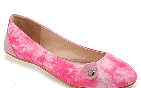 Růžové batikované baleríny