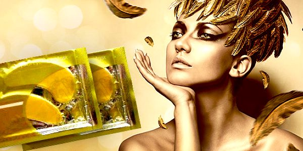 Zlatá kolagénová maska proti vráskam pod oči