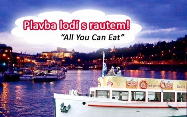 3 varianty - Romantická PLAVBA LODÍ po Vltavě s možností ALL YOU CAN EAT! Plavby každý den včetně víkendů!!! Po celý den - ráno, odpoledne i večer!