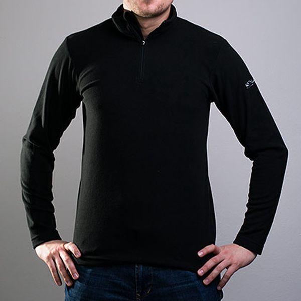 Černý fleecový rolák