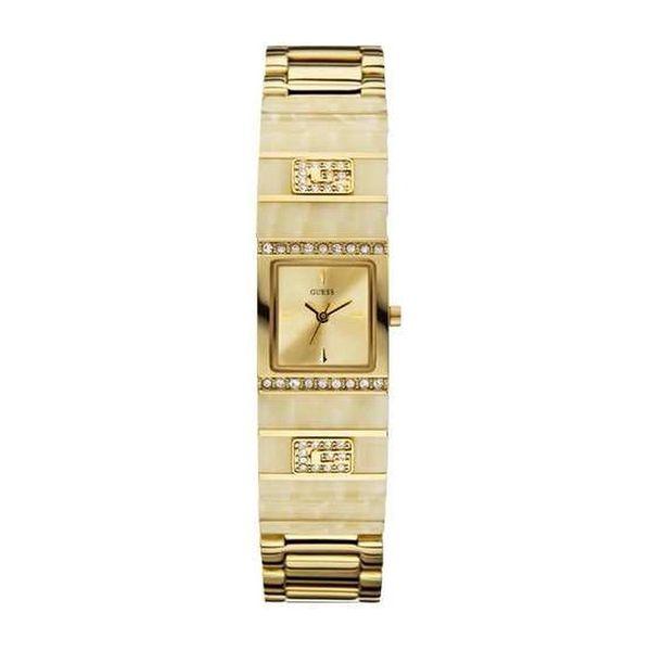 Dámské hodinky Guess zlaté úzký tvar