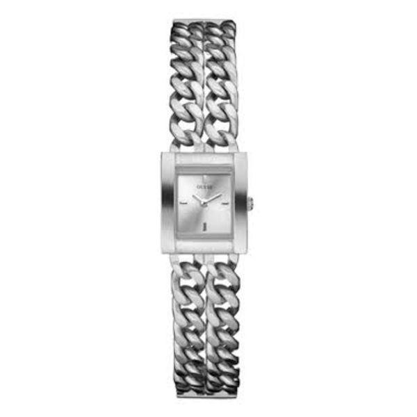 Dámské hodinky Guess stříbrné hranaté úzký pásek