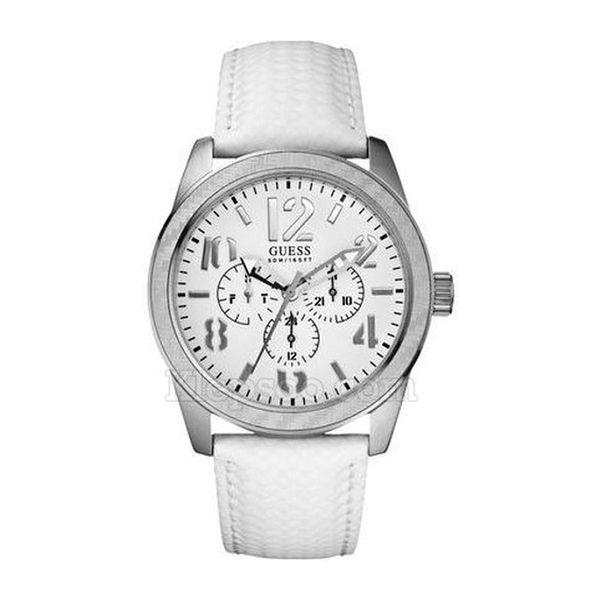 Pánské hodinky Guess bílo-stříbrné