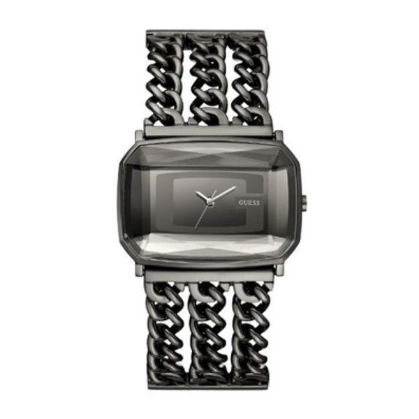 Dámské hodinky Guess šedo-stříbrné hranaté