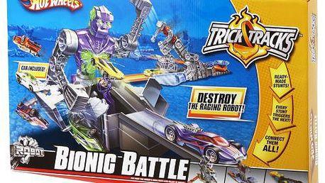 Hračka Mattel válka robotů. Připrav se na senzační svět kaskadérských kousků.