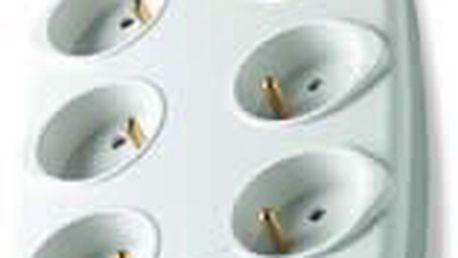 Přepěťová ochrana BELKIN 230V, 6-zásuvek, 2-RJ11, tel, 2m
