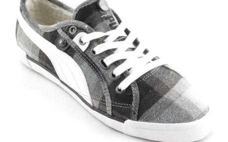 Dámské polobotky Puma šedo-černé kostičkované