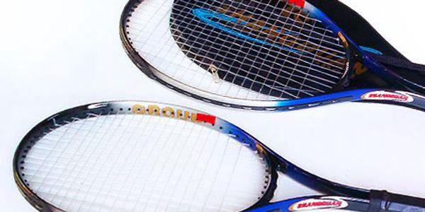Dvě hliníkové tenisové rakety + pouzdro
