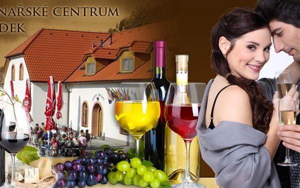 Vinařský pobyt s degustací vína pro 2 osoby