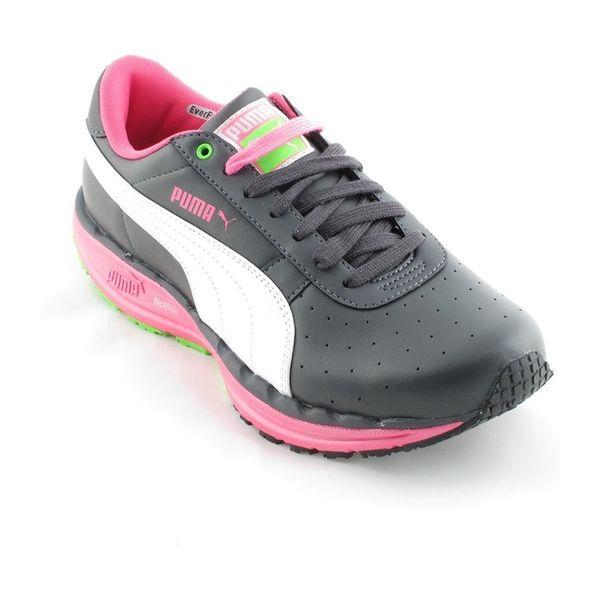 Dámské tenisky Puma tmavě šedé s bílou a růžovou