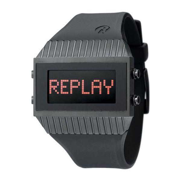 Pánské hodinky Replay černé hranaté