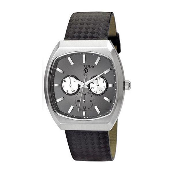 Pánské hodinky Replay šedé černý pásek