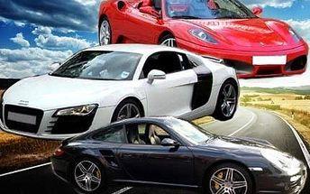 30minutová jízda v Audi, Porsche nebo Ferrari!