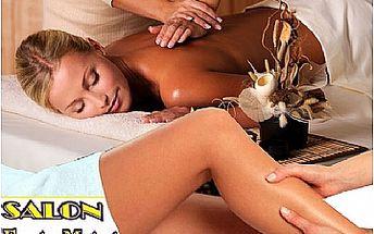 Klasická masáž šíje a zad nebo dolních končetin + relaxační masáž hlavy