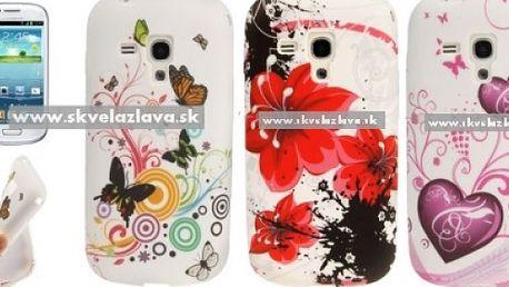 Obal z odolného a pružného TPU materiálu určený pre Samsung Galaxy S3 mini / i8190 v štýlovom Flower dizajne v deviatich vzoroch za 4,10 € vrátane poštovného!