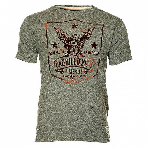 Šedé pánske tričko Timeout
