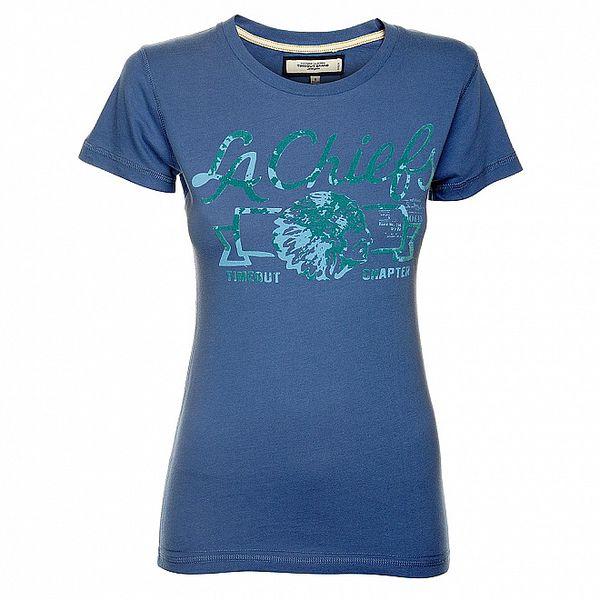 Dámske svetlo modré tričko Timeout s potlačou