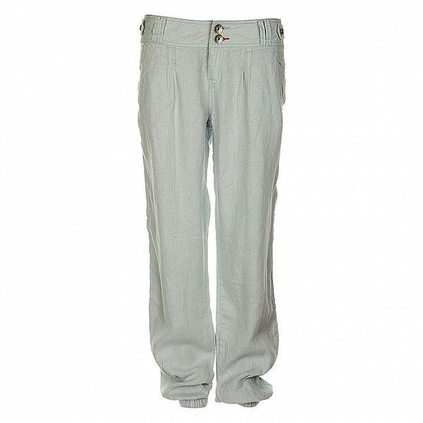 Dámské světle modré lněné kalhoty Timeout