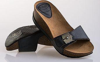 Kožené pantofle na klínku Scholl
